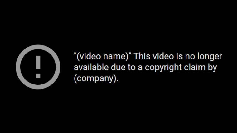 A YouTube már feltöltés közben ellenőrizheti, van-e szerzői jogi probléma a videóval kép