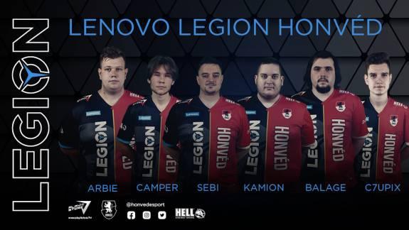 Két játékban is ugyanazt a csapatot indítja a Lenovo Legion Honvéd kép