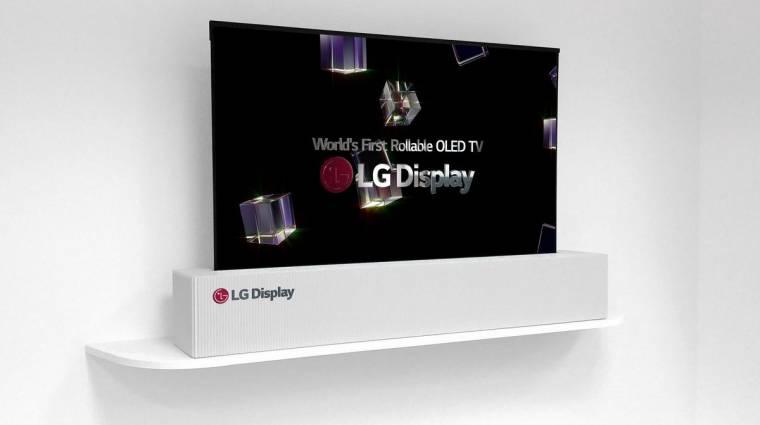Ilyen az LG összegöngyölhető tévéje működés közben kép