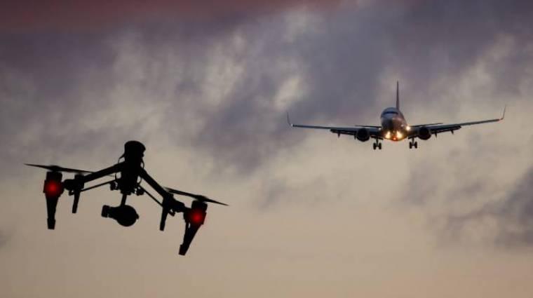 Hamarosan vészjelzést ad a drón, amikor közeledik egy nagyobb repülő kép