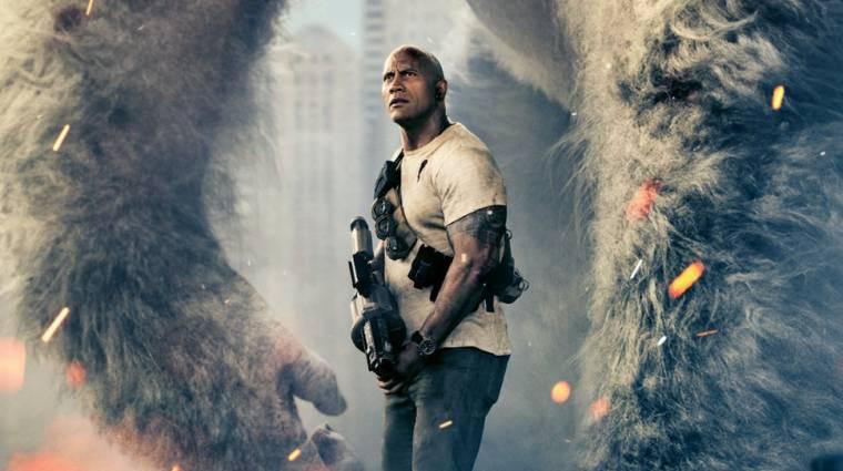 Rampage: Tombolás - traileren Dwayne Johnson szörnyfilmje kép