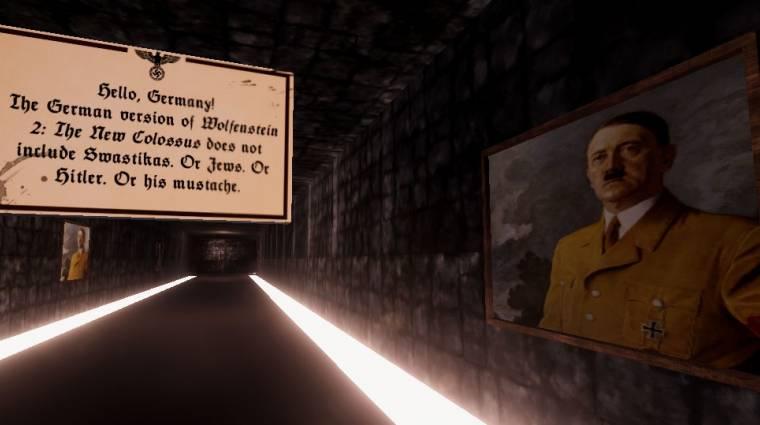 A Wolfenstache egy szomorú vicc a Wolfenstein 2 cenzúrázásáról bevezetőkép