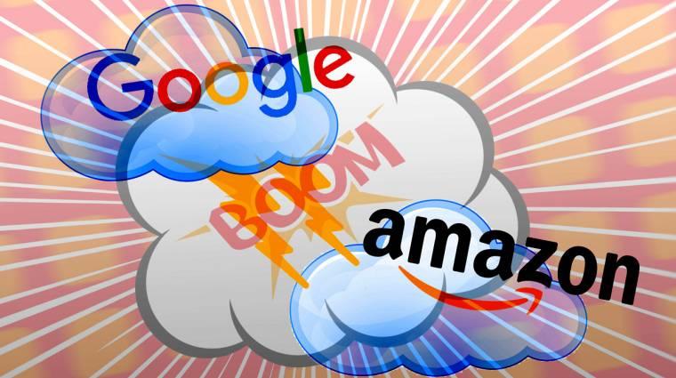 Pofozkodnak az óriások: a Google befenyítette az Amazont kép