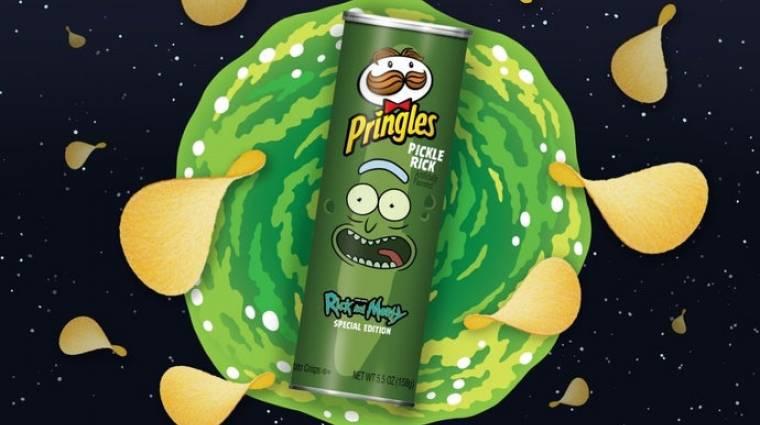 Már Pickle Rick kiadású chipset is gyárt a Pringles bevezetőkép