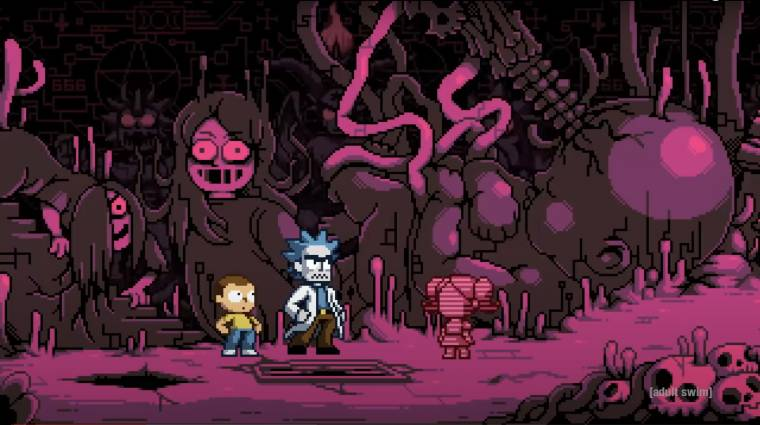 Rövid, videojátékos különkiadást kapott a Rick és Morty bevezetőkép