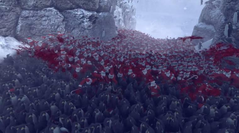 Nézd meg, ahogy 11000 pingvin összecsap 4000 Mikulással bevezetőkép