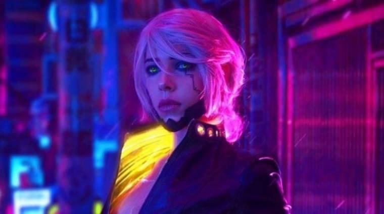 Valahogy így festene Ciri, ha a Cyberpunk 2077-ben is tiszteletét tenné bevezetőkép