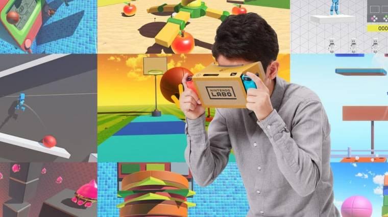Nintendo Labo - sokféle kalandban lehet részünk a kartonból készült VR szemüveggel bevezetőkép