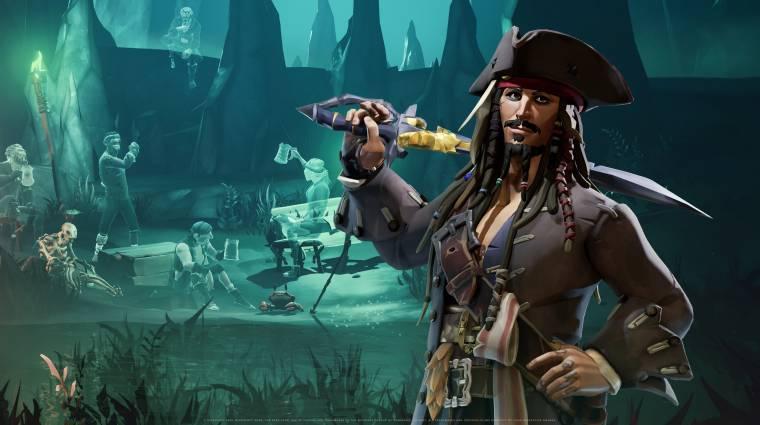 Traileren Jack Sparrow kapitány és a Sea of Thieves találkozása bevezetőkép