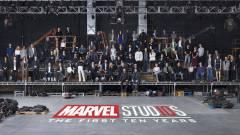 Stábfotón a 10 éves Marvel Filmes Univerzum kép