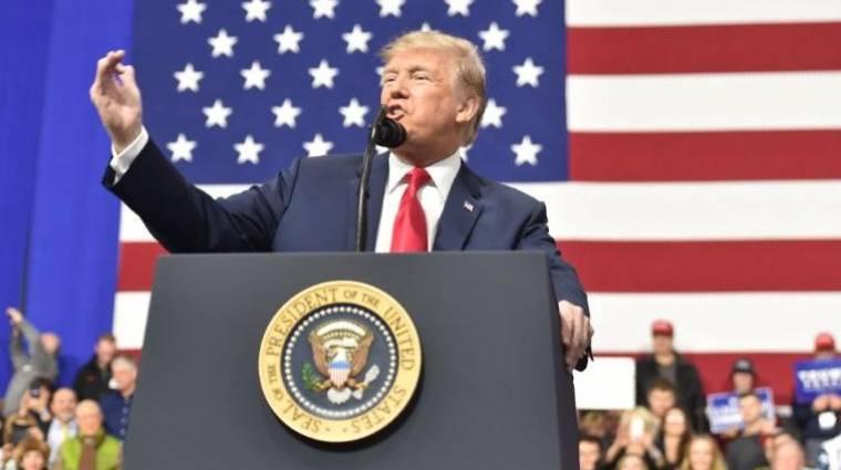 Feltörték Donald Trump kampányoldalát kép