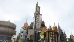 Ezt a várost egy profi Minecraft építőcsapat rakta össze kép