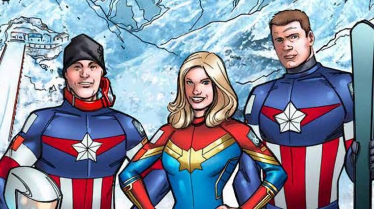 Képregényhősöknek öltöztek az amerikai olimpikon síelők bevezetőkép