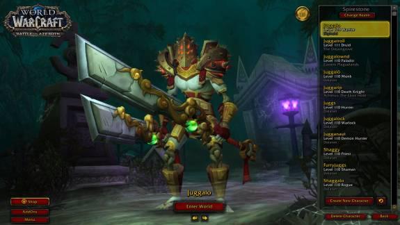 Egy World of Warcraft játékosnak 49 warriorja van, de okkal kép