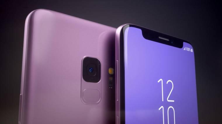 Ilyen lett volna az iPhone X-esített Samsung Galaxy S9 kép
