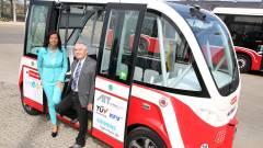 Önjáró autóbuszt tesztelnek Bécsben kép