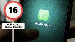 16-os korhatárt kap a WhatsApp kép