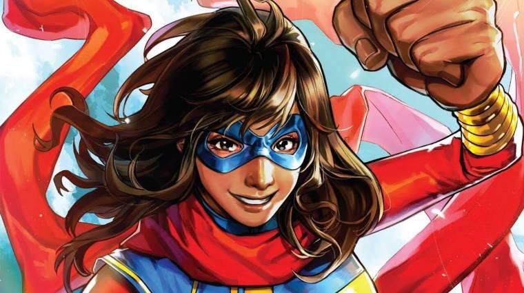 Szuperhős szerkójában láthatjuk a Ms. Marvel sorozat címszereplőjét bevezetőkép