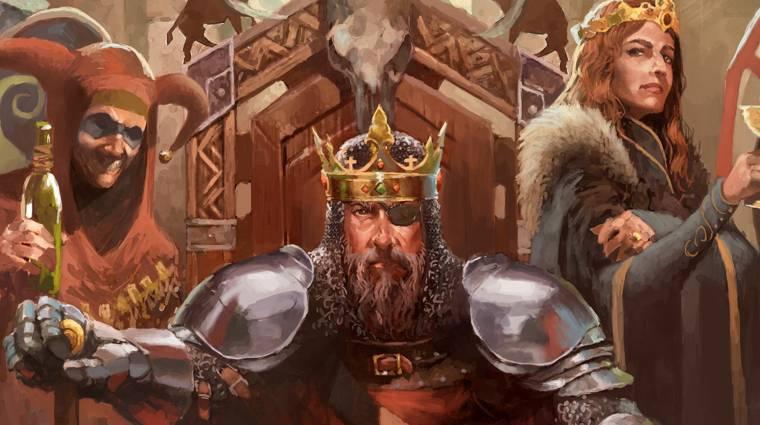 Néhány hét múlva megjelenik a The Crusader Kings társasjáték bevezetőkép