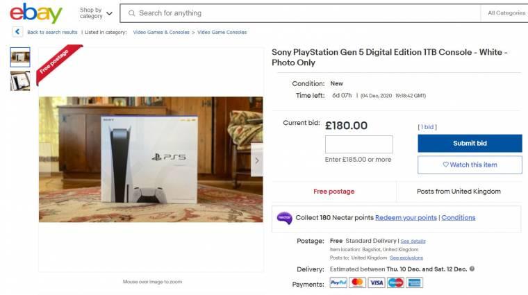 Az eBay figyelmezteti a vásárlókat a nem hiteles PlayStation 5 ajánlatokra bevezetőkép