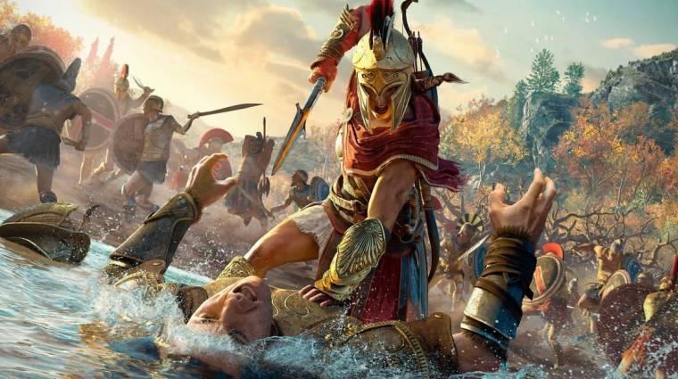 Assassin's Creed Odyssey - a Trainspotting előtt tiszteleg az élőszereplős előzetes bevezetőkép