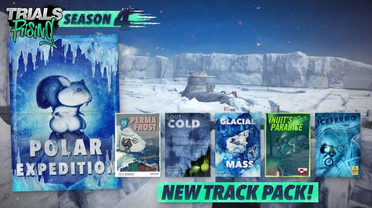 Téli pályákat tartalmazó csomaggal bővült a Trials Rising bevezetőkép
