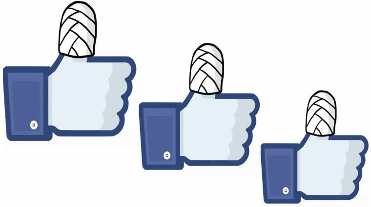 Reggelre eltűnt a Facebook fele kép