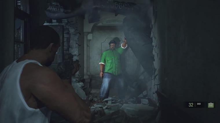 Resident Evil 2 - Mr. X most épp Big Smoke, és Leon lett CJ bevezetőkép