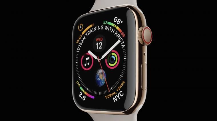 Nagyobb kijelzővel és EKG-val érkezik az Apple Watch Series 4 kép