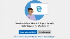 Figyelmeztet a Windows 10: ne használjuk a Chrome-ot vagy a Firefoxot kép