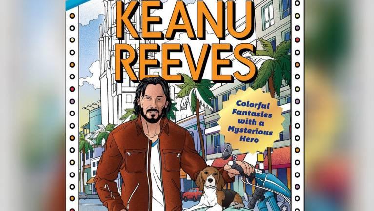 Ez már bálványimádat - Keanu Reeves színezőt lapozgattunk kép