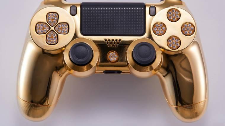 Kisebb vagyonba kerül az aranybevonatú DualShock 4 kontroller bevezetőkép