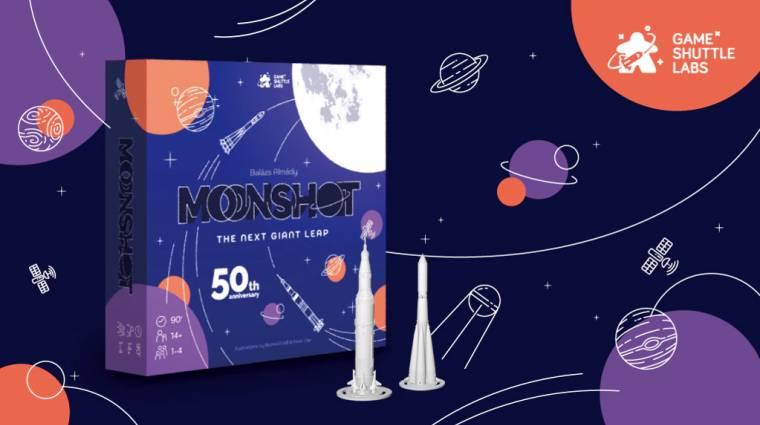 Moonshot: The Next Giant Leap - magyar fejlesztésű társasjátékkal repülhetünk a Holdra bevezetőkép