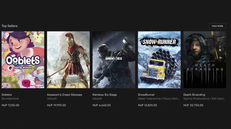 Már forintban fizethetünk az Epic Games Store-ban bevezetőkép