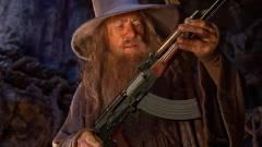Játék lesz a képből, amin Gandalf egy fegyvert tart kép