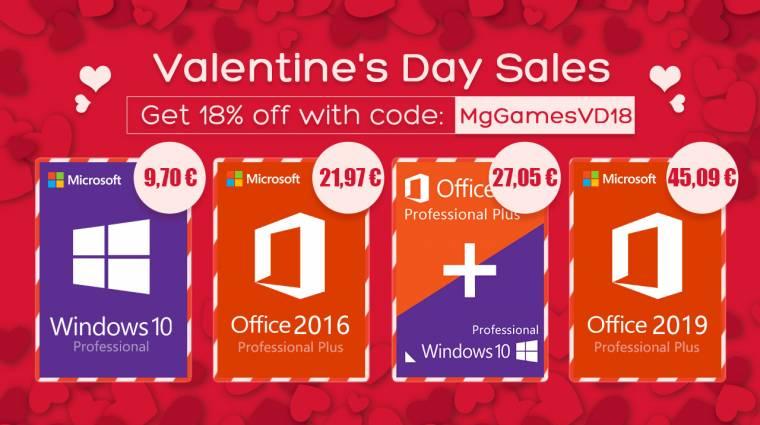 Nincs szebb szerelmes ajándék, mint egy eredeti Windows 10 vagy Office bevezetőkép