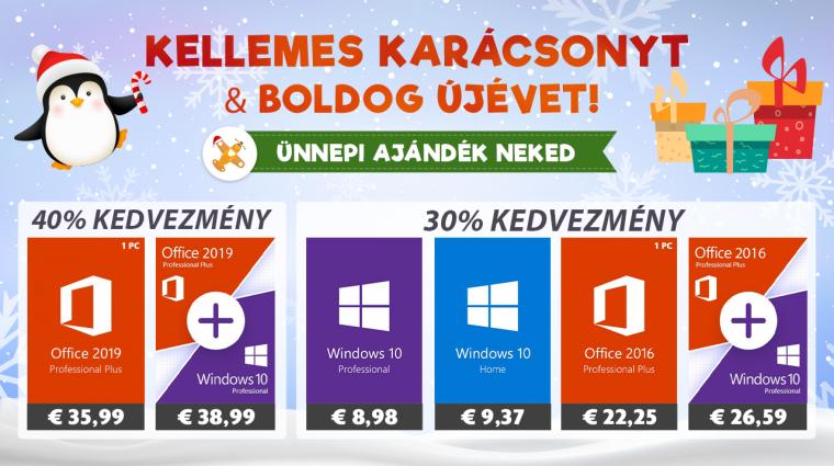 Vásárolj Windows 10-et vagy Office-t karácsonyra! bevezetőkép
