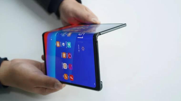 Az Oppo hajtogatós mobilja van is meg nincs is kép