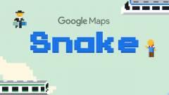 A Google Térképre költözött a klasszikus kígyós játék kép