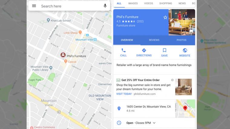 ae46929b37 A Google Térképbe is jönnek a hirdetések - PC World