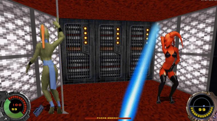 Itt egy mod, ami Star Wars játékot csinál a Duke Nukem 3D-ből bevezetőkép