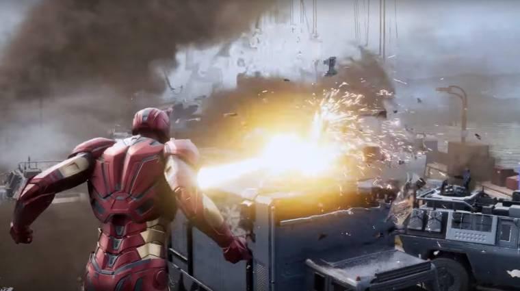 Marvel's Avengers - a legújabb játékmenet videó Iron Manre koncentrál bevezetőkép