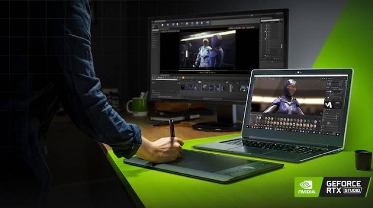 A profi felhasználóknak szólnak az Nvidia RTX Studio laptopok kép
