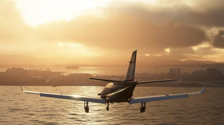 Tíz lemezen terpeszkedik a Microsoft Flight Simulator bevezetőkép