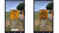 60 új nyelvet támogat a Google Fordító mobilkamerás fordítója kép