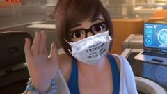 Egy cosplayer Meinek öltözve támogatja a hongkongi tüntetőket kép