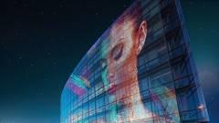 Átlátszó tévék és üvegre simítható, öntapadós képernyők kép