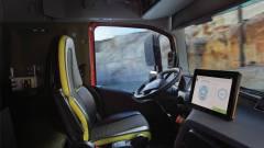 Munkában az e-kamionok kép
