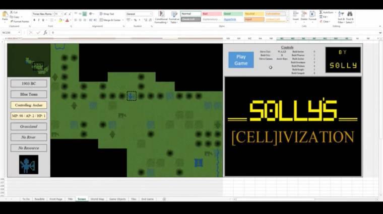 Valaki megcsinálta a Sid Meier's Civilizationt Excelben bevezetőkép