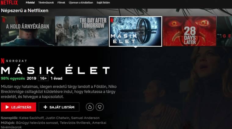 Mától magyarra váltott a Netflix bevezetőkép